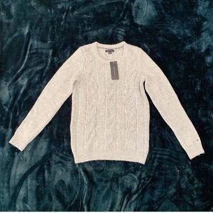 NWT Tommy Hilfiger Twill Knit Wool Blend Sweater